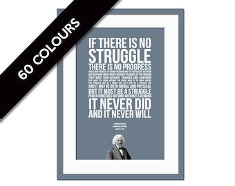 Frederick Douglass - If There is no Struggle There is no Progress - Historical Quote - American History - Classroom Art - Civil War Print