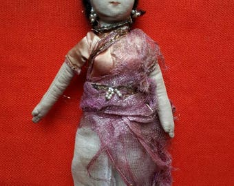 Vintage Cloth Indian Doll Sari
