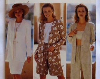 Butterick Pattern 4050 Fast & Easy Misses' Jacket, Top, Skirt, Shorts and Pants Size 18-20-22
