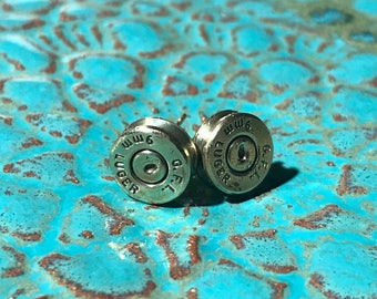 Bullet Casing Stud Earrings