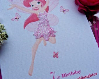 Handmade Personalised Birthday Card 16th 18th 21st 30th 40th 50th 100 Fairy