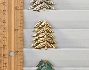 Pin arbre épingle broche - BZ Designs - arbre à feuilles persistantes - arbre de Noël - 4 belles finitions