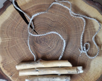 light natural minimalistic  wood necklace
