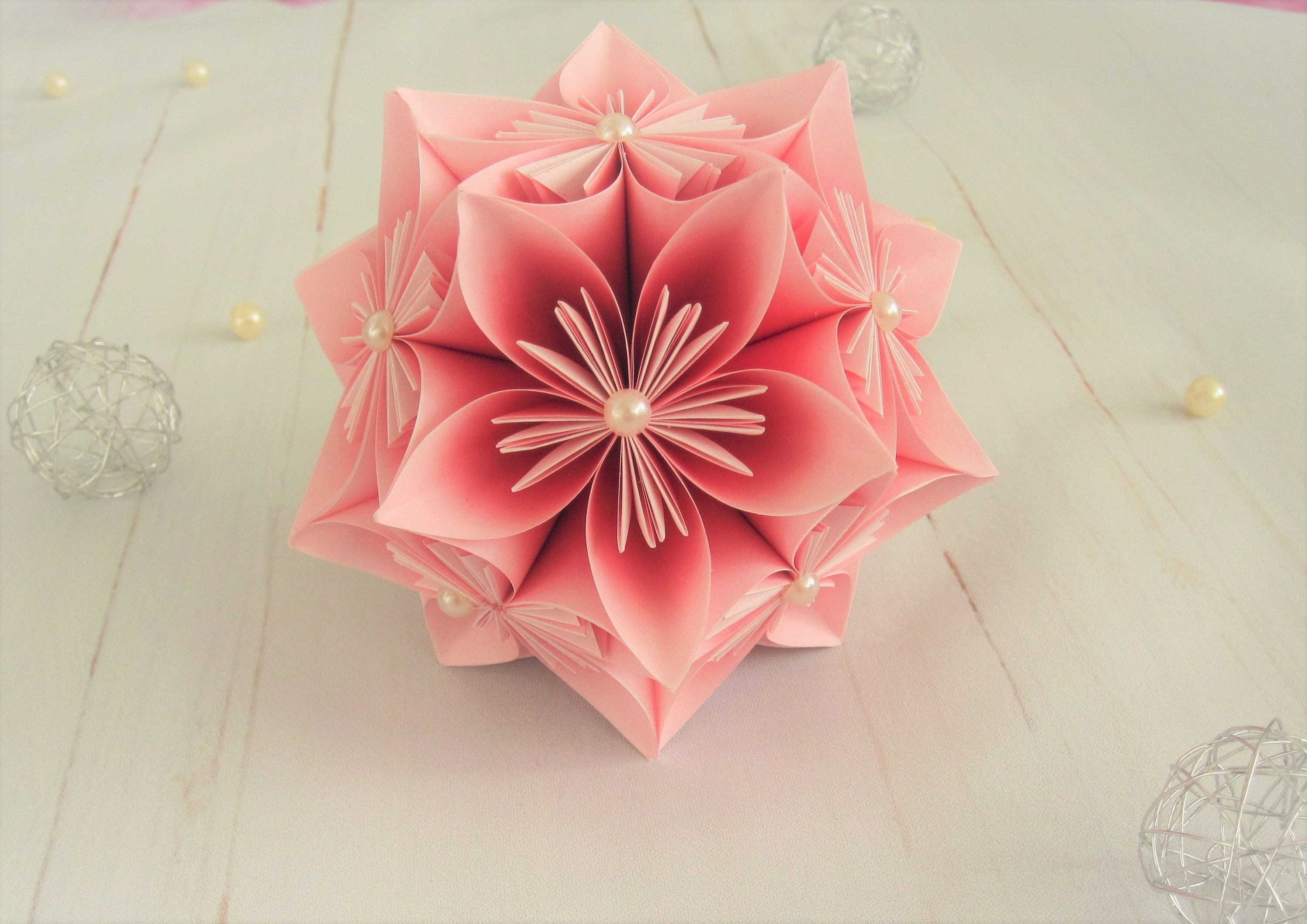 Paper Flower Flower Ball Origami Decoration