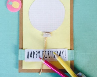 Happy Birthday Balloons - Birthday Card