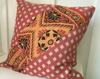 Vintage Kantha Boho Cottage Pillow Cover 11