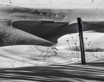 Drifted Snow, Wind-blown, Shadows, Abstract, Minimalism, Landscape, Black and White, Fine Art Photo, Download, Wall Art, Poster, #_2250222