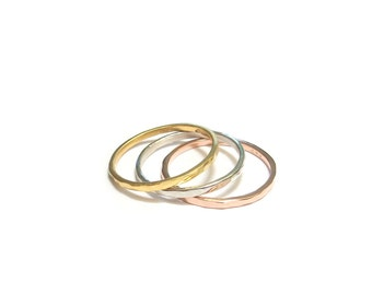 """Ring """"Trindade 2"""" - fine silver and Vermeil rings"""