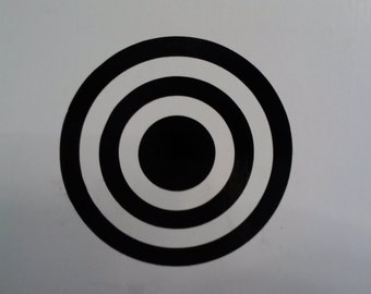 Bullseye Target symbol vinyl decal sticker, several sizes and colors to choose from