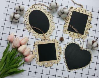 Engraved Mini Wood Chalkboard / Wood Art / Mini Chalkboard / Food Sign Chalkboard / Photography Props