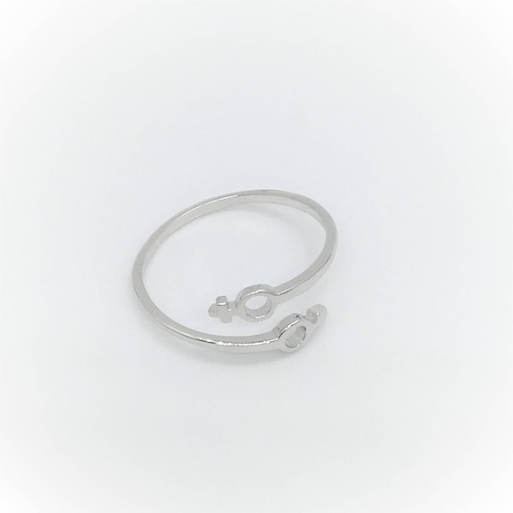 Mars And Venus Symbol Ring Sterling Silver Ring