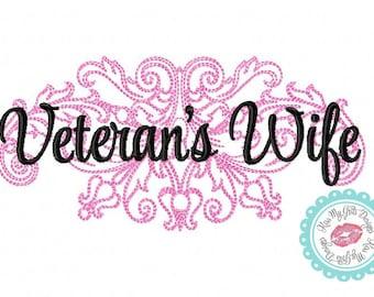 Veteran's Wife Damask  Machine Embroidery Design