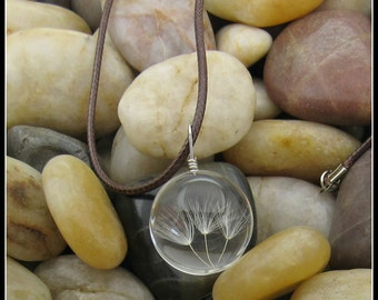 "Dandelion Seed Ball Pendant on 18"" Chain"