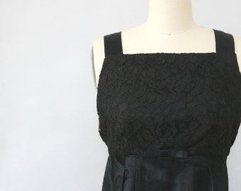 vintage lace black cocktail dress