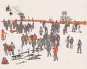 Skiing in Korea Print...