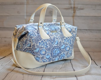 Design your own Brooklyn Traveler Bag, custom made-to-order handbag, overnight bag