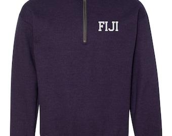FIJI Quarter Zip, Phi Gamma Delta Pull Over,  FIJI jacket, Phi Gamma Delta quarter zip, Phi Gamma Delta Jacket, back to school, Phi Gam