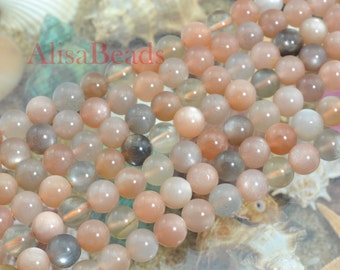 Sunstone,smooth round,8mm,beads,15 inches
