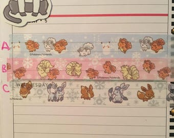 Pokemon Alolan Its demo washi tape sample