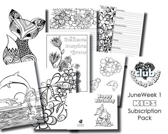 June Week 1 Kids 8 Page Colouring in Pack