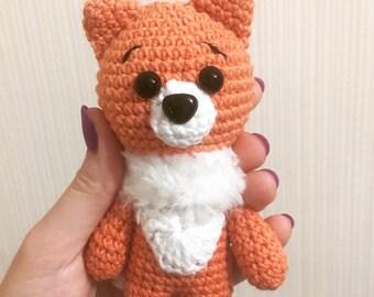 Amigurumi red fox, crochet fox, fox lovers