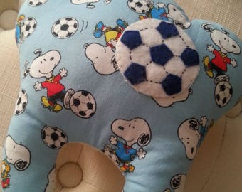 Snoopy Soccer Tooth Fairy Pillow