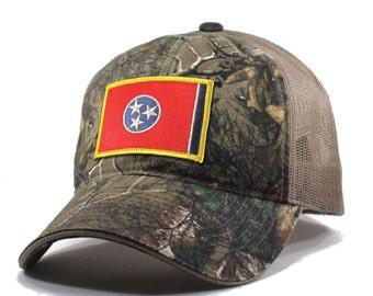 Homeland Tees Tennessee Flag Hat - Realtree Camo Trucker