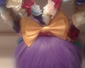 Flowered Rainbow Headband
