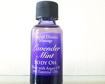 Lavender Mint Body Oil with Argan Oil and Essential Oils