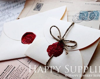 5pcs Japanese White Handmade Paper Flat Envelopes (KE001)