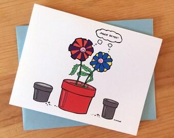 Housewarming Card: Flowers (New Digs!)