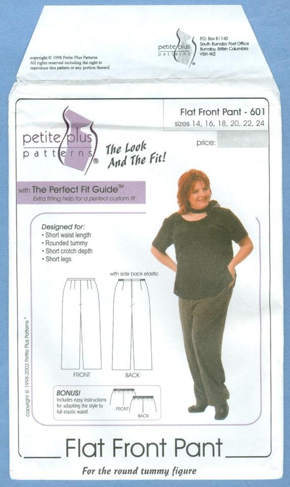 2002 Flat Front Pant Size 14,16,18,20 - Petite Plus Patterns Sewing ...