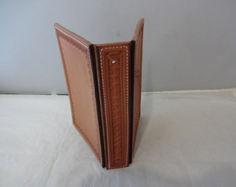 Leather Basket Stamped Daytimer Address Book Cover You Finish Craft Project Parts