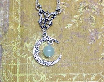 Necklace: in the Moon (genuine Aventurine).