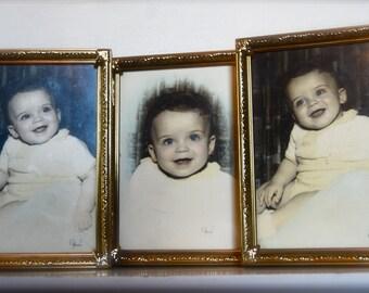Vintage Trio of Original Baby Pictures