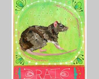 Animal Totem Print - Rat
