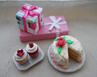 Miniature Birthday Party Scene