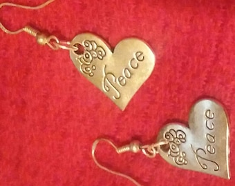 Clearance - Peace Heart Dangles
