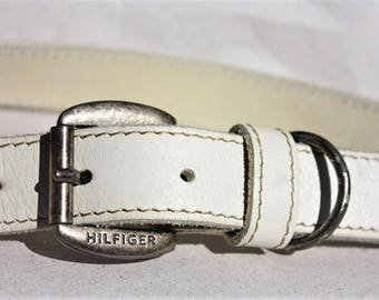 TOMMY HILFIGER - Vintage Leather Belt ... a Fashionista Statement Piece can fit for Size S and M and L and XL