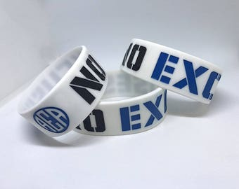 "No Excuses Wristband 2.0 1"" Fitness Silicone Wristband"