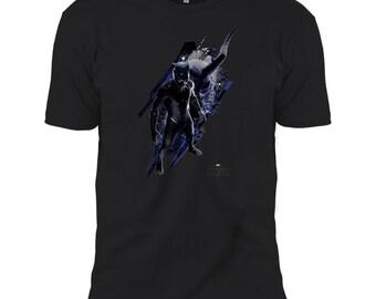 Marvel Black Panther Vs Kilmonger T Shirt Men's Short  Sleeve T-Shirt