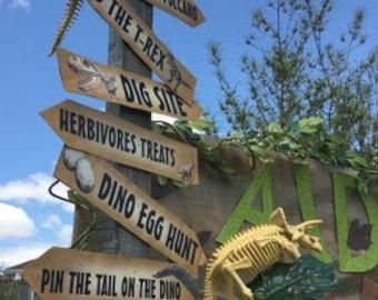 Dinosaur directional arrows, dinosaur arrow signs, Dinosaur signs dig site party, Dino signs, directional signs, 7 unique  signs instant pdf