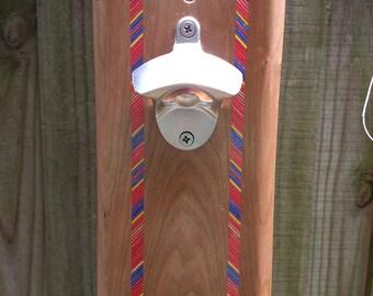 Magnetic Wooden Wall Bottle Opener