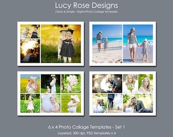 6 x 4 Photo Collage Templates - Set 1