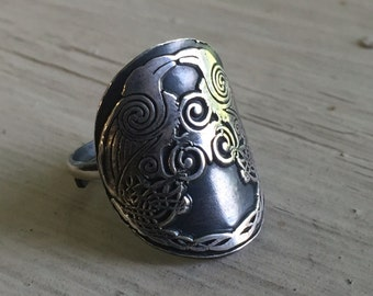Odin's Ravens Ring - Viking Jewelry - Odin's Ravens - Huginn and Muninn