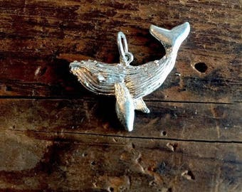 Whale Sterling Silver Charm Pendant Humpback Nautical Gift