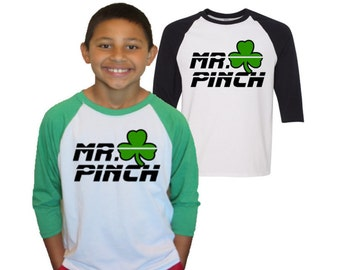 St. Patrick's Day Shirt Mr. Pinch Shirt|Kids T-shirt|Monogram St. Patrick's Day Shirt