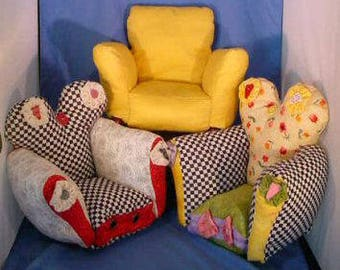 KK716E – Cute Little Chairs -  Sewing Pattern, PDF Download