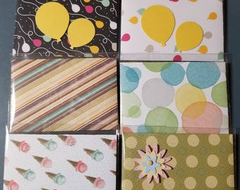 Lot of 6 Birthday Gift Card Holders