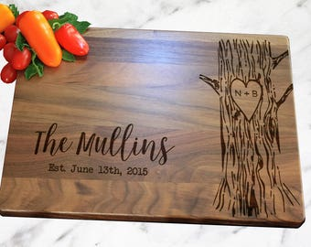 Personalized Cutting Board, Personalized Gift, Wedding Gift, Personalized Wedding Gift, Cheese Board, Rustic Cheese Board, Couple Gift, Brid